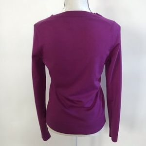 Banana Republic Sweaters - •Banana Republic• Magenta Cardigan Merino Wool S